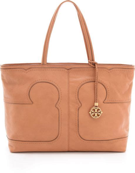minimalist look with tory burch a constellation tory burch amalie simple tote in brown nutmeg lyst