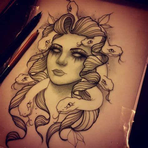 new school medusa tattoo pretty new school style medusa gorgona portrait tattoo