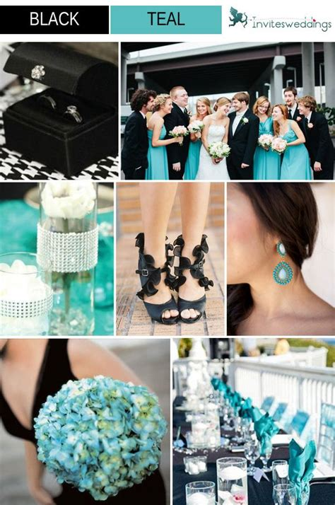 classic black wedding color ideas and wedding invitations