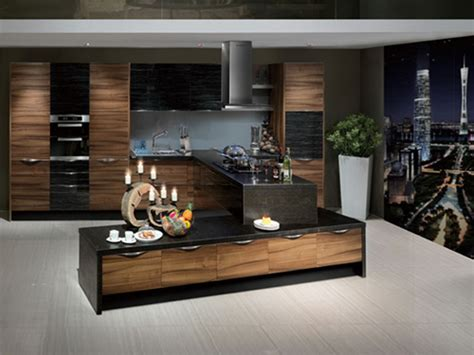 Wood Grain Kitchen Cabinets by Oppein Kitchen Cabinets High Gloss Pvc Series Wood Grain