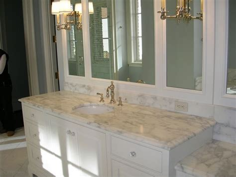 best color for granite countertops and white bathroom