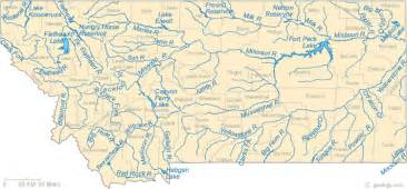 map rivers map of montana lakes streams and rivers