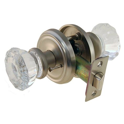 Glass Privacy Door Knobs by Privacy Door Set Glass Knobs With Rosettes