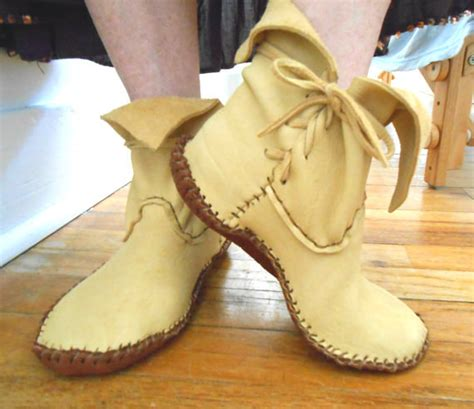 Handcrafted Moccasins - handmade moccasins ankle boots handsewn hippie boho