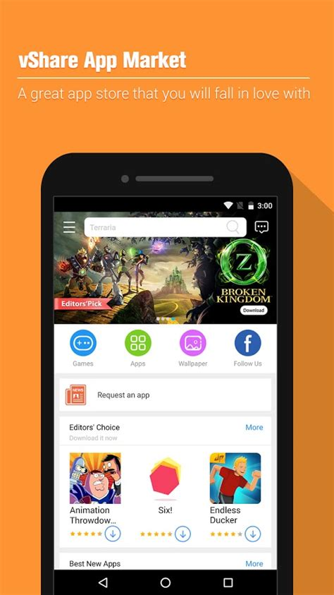 new apps for android apk vshare app market apk v1 0 0 5006 free for android 3 0 and up osappsbox