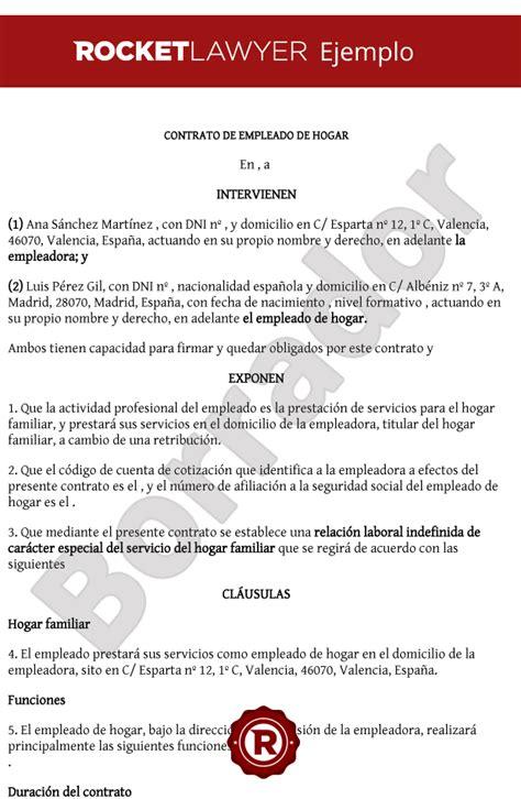 modelo contrato empleadas de hogar 2016 modelo contrato empleada hogar 2015 colombia 89 contrato