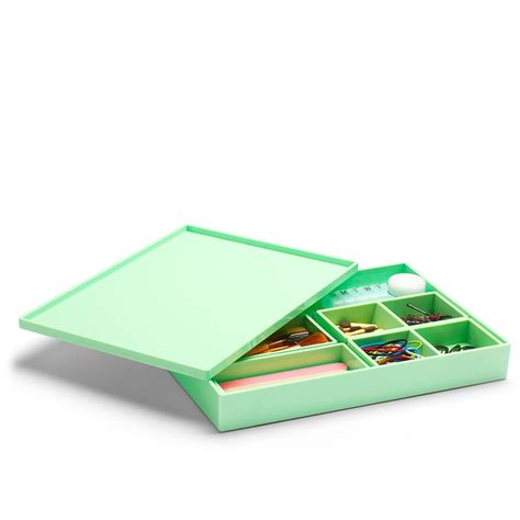 cool office supplies poppin mint large slim tray modern desk accessories