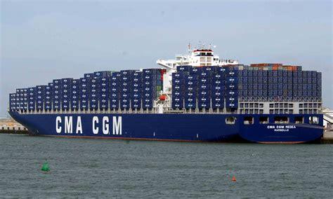 porte containers cma cgm commande quatre porte conteneurs de 9200 evp mer