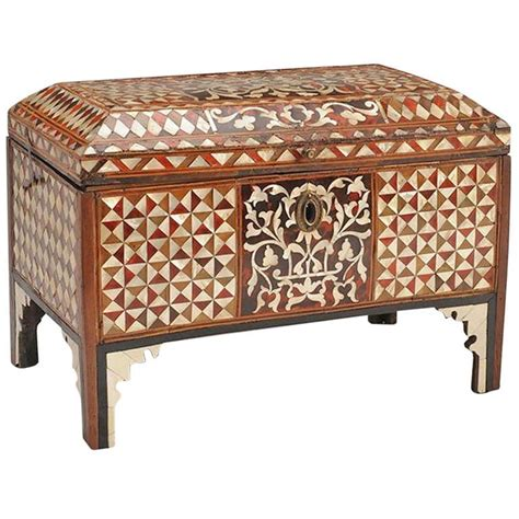 Ottoman Empire 18th Century 18th Century Ottoman Inlaid Chest Furniture Ottomans And Boxes