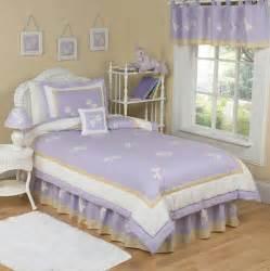 Purple lavender dragonfly girls bedding twin comforter set 4pc kids