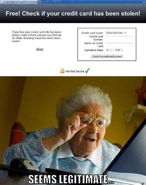 Credit Card Meme - grandma finds that her credit card has been stolen