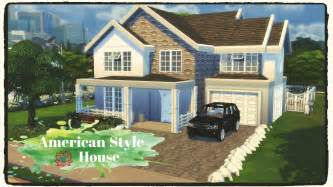 sims 4 american style house build decoration dinha