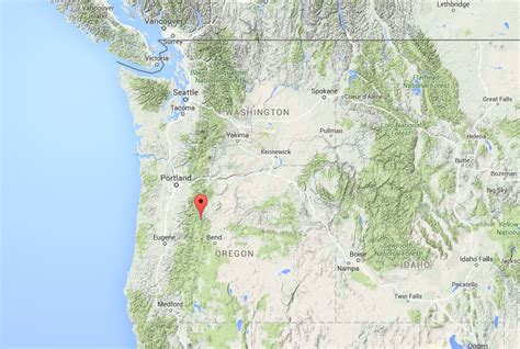 map of jefferson oregon mountain climber dies after falling in crevasse on oregon