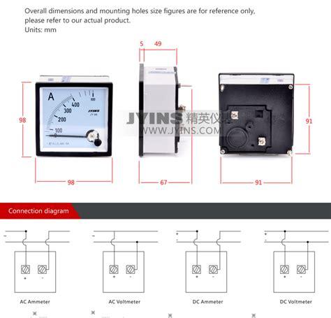 Panel Meter Er Meter Direct Class 25 Type Ft 96 Ft 72 96 96mm ammeter voltmeter analog panel meter buy panel meter analog panel meter 96 96mm analog