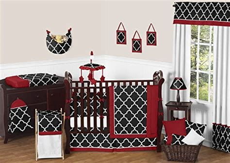 Black And White Boy Crib Bedding Sweet Jojo Designs Black And White Trellis Print Gender Neutral Baby Bedding 9 Boy Or