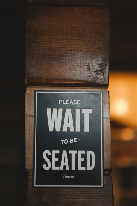 wait to be seated signs for restaurant intimate edmonton restaurant wedding