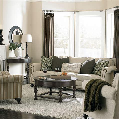 bernhardt brae sofa huntington demilune console table brae living room bernhardt