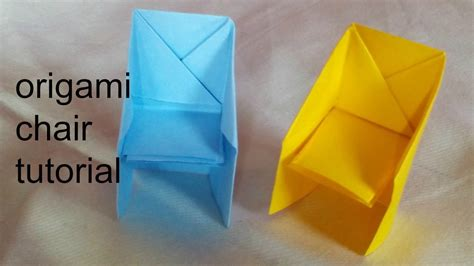 Easy Origami Chair - paper craft how to make origami chair tutorial easy