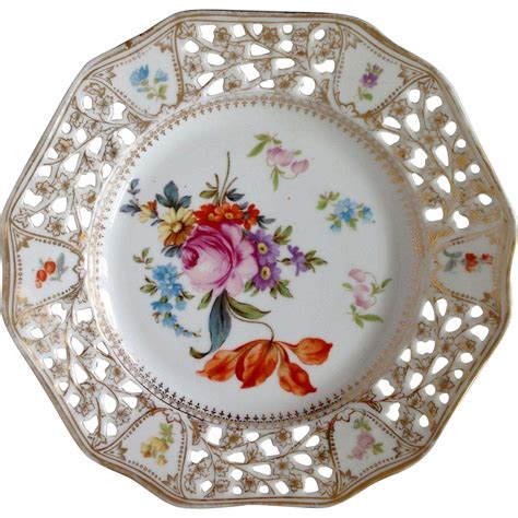 beautiful plates vintage bavaria porcelain plate with beautiful flower