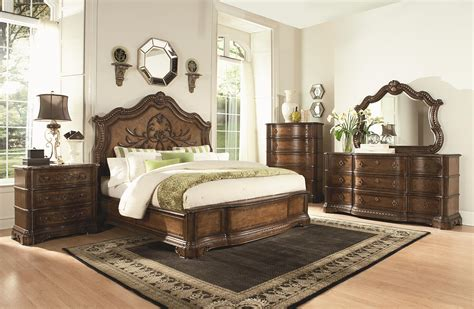 marble bedroom sets cappuccino finish transitional 5pc bedroom set w queen