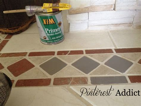 Floor Tile Primer by Painted Floor Tile Update Addict