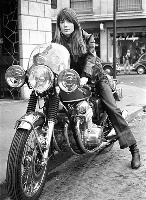 francoise hardy on motorcycle road trip sous acide motorcycle boy