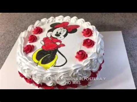 tutorial de decoraci n de tortas c mo hacer una torta cake minnie mouse pastel decoraci 243 n sencilla youtube