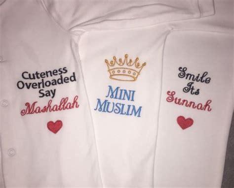 personalised baby islam muslim sleepsuit gro gift keepsake