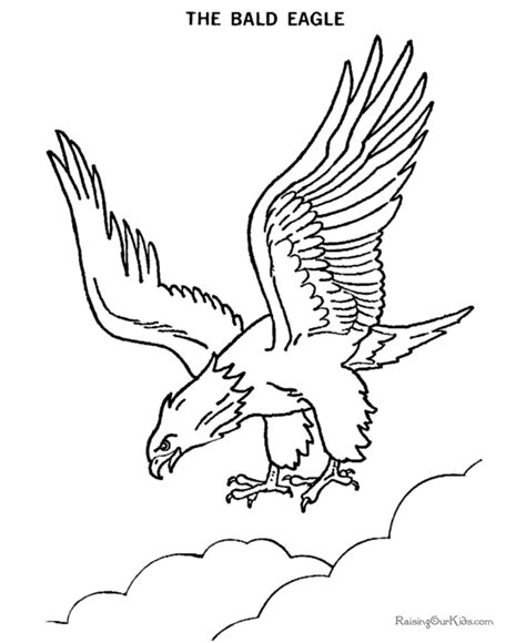 coloring page eagle flying free coloring pages of bald eagle drawing