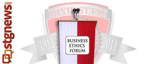 Dixie State Mba by Dixie State Business Ethics Forum Series Opens On Us Space