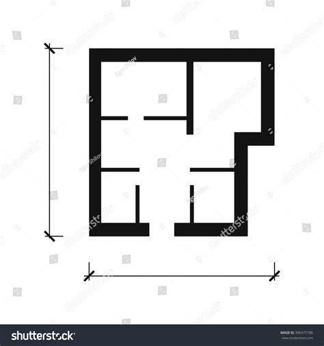 create a blueprint free house plan vector icon stock vector 306377186