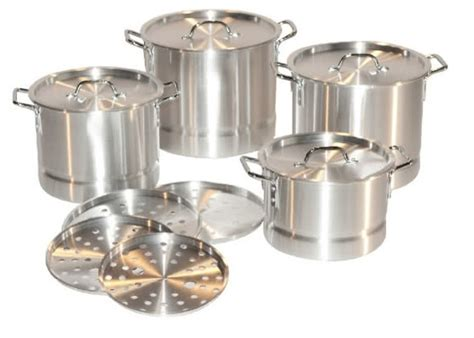 Vicenza Stock Pot W Steamer Panci Kukus Rebus Dengan Steamer V525 12 stainless steel stock pot and steamer set