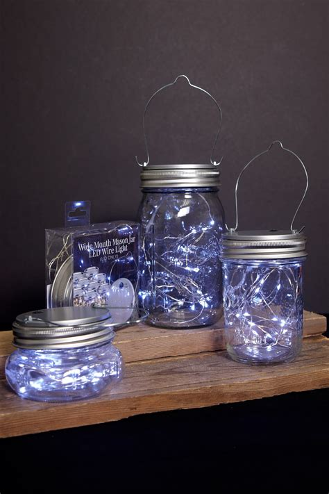 Led Mason Jar Lids With Fairy Lights Battery Op Cool Light Jars