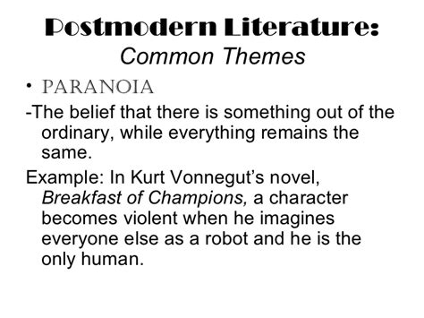 Themes Postmodernism Literature | write my essay postmodern literature themes
