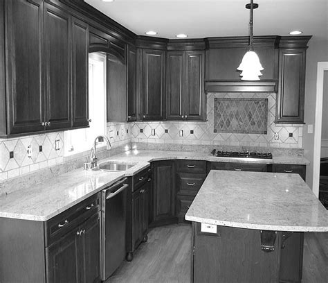 Black Granite Kitchen Island straight l shaped kitchen layout with island for hangover