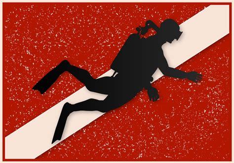 dive flag free vector grunge dive flag free vector