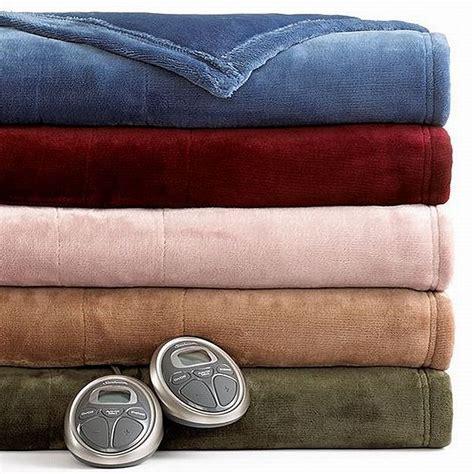 Slumber Rest Electric Blanket by Sunbeam Slumber Rest Velvet Plush Garnet Burgundy