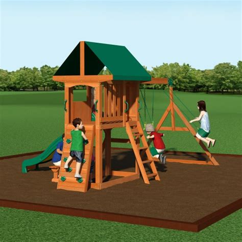 Backyard Discovery Swing Set by Backyard Discovery 65012com Somerset Wooden Swing Set W