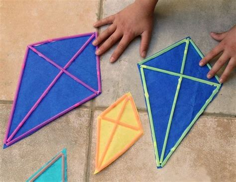 Kite Paper Craft - kites craft with straws easy will we a