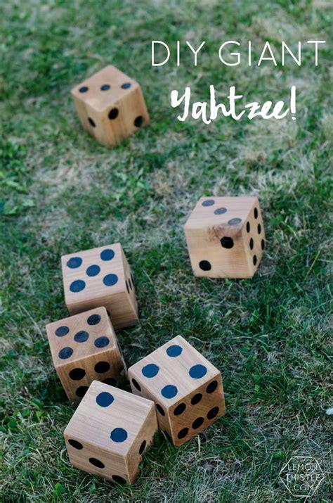 Backyard Yahtzee 5 Diy Yard Hours Of Jenga Dominoes Yahtzee