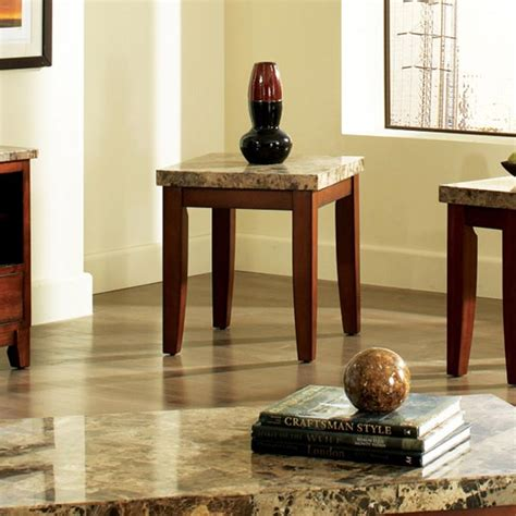 Marble Top Living Room End Tables Montibello Marble Top End Table Dcg Stores