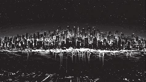 black and white drawing wallpaper black and white cityscapes digital art drawings wallpaper