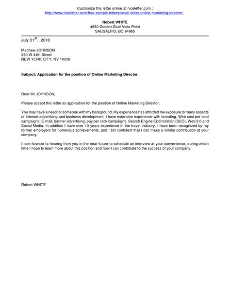 letter sle exles of application letter template for