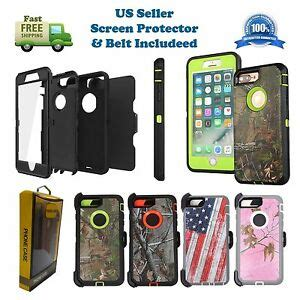for iphone 6 6s 7 8 plus defender w screen protector clip fits otterbox ebay