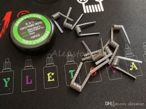 Ud Ni80 Nichrome 24 G Authentic 30 95m Staple Framed Twisted Fused Coil Staple Staggered Fused