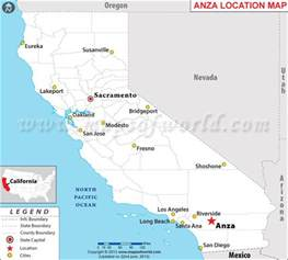 anza california map where is anza located in california usa