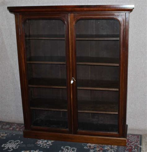 Mahogany Bookcase With Doors 2 Door Mahogany Bookcase With Glazed Doors Antiques Atlas