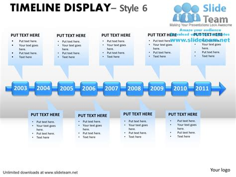 How To Make Abstract Roadmap Timeline Display 5 Power Point Slides An Timeline Smartart Template