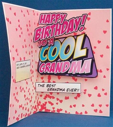 How To Make A Birthday Card For Grandmother Cool Grandma Pop Up Birthday Card Photo By Cheryl French