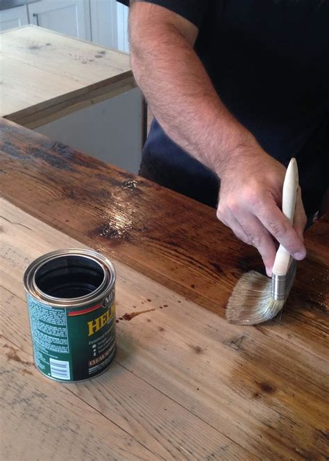 spar urethane bar top best 25 reclaimed wood countertop ideas on pinterest